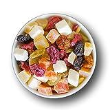 1001 Frucht I Hausgemacht Fruchtmischung - exotische Trockenfrüchte Mix fein I Kandierte Früchte u. Trockene Früchte Mix nach Omas Rezept I Trockenobst gemischt geschwefelt gentechnikfrei (500 g)