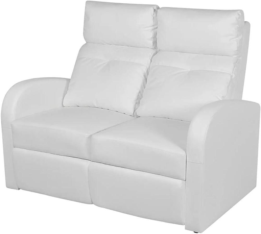 Vidaxl divano due posti reclinabile moderno elegante in ecopelle 241998