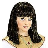 WIDMANN 74960 - Peluca estilo Cleopatra con oropeles, talla única , color/modelo surtido