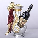 Botelleros Vino Sostenedor De Botellas, Estatua Escultura Figurilla Resumen Mujer Sexy Y Jarrón Diseño, Novedad Vintage Ilustraciones Decorativas para El Hogar Moderno Bar Salón Mesa De Cocina