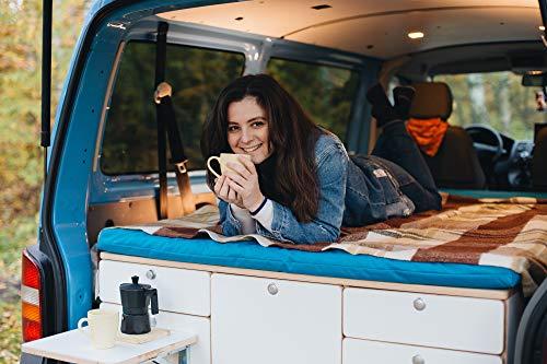 Volkswagen (VW) Transporter camping set; folding beds & kitchen (Braun)