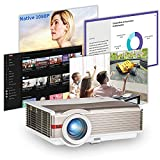 WiFi Projector Built in Android OS Full HD 1080P Video Projector 6500LM, iOS Wireless Mirroring, Home Outdoor Movie Projector with Bluetooth, Zoom, Keystone, for HDMI/ TV Stick/ DVD/ Laptop/ PPT -  CAIWEI