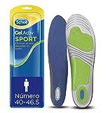 Scholl gel activ sport - plantillas para hombre, para zapatillas deportivas, mayor amortiguación y absorción del olor y sudor, talla 40 - 46. 5, 1 par (2 plantillas)