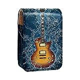 qfkj Mini Cuero Bolsa organizadora de lápiz Labial,Guitarra eléctrica bajo el Agua
