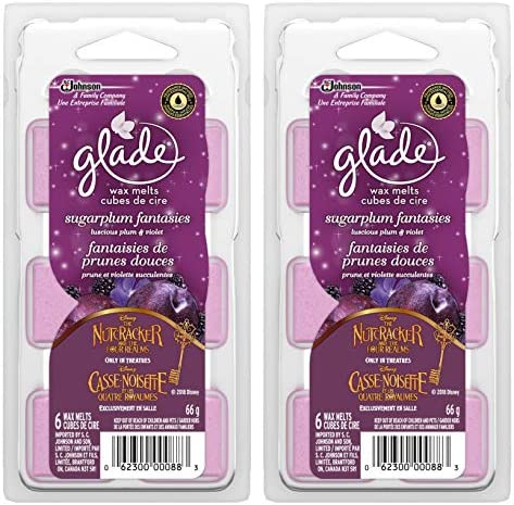 Glade Holiday Collection Wax Melts Refills Sugarplum Fantasies 6 Count 2 3 Oz 66g x 2 Pack 12 product image