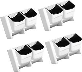 4Pcs White Vertical Garden Stackable Wall Planters with 8 Container Boxes - Good for Patio Balcony - Self Watering to Grow...