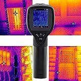 Imageur infrarouge thermique, thermomètre infrarouge infrarouge Caméra d'imagerie thermique -20~300 ° C résolution 32 * 32 avec écran couleur(Noir)