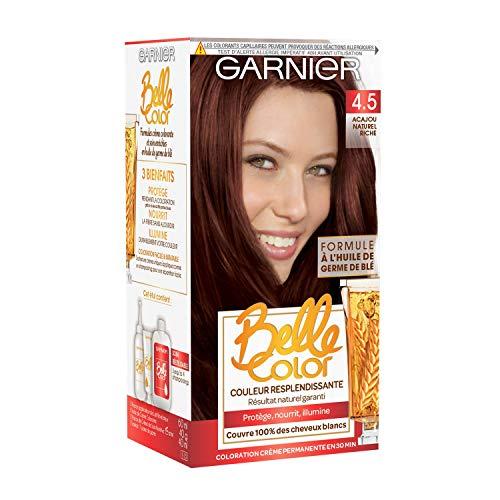 Garnier–Belle Color–Colorazione Permanente ramato 4.5Mogano Naturale ricco naturale