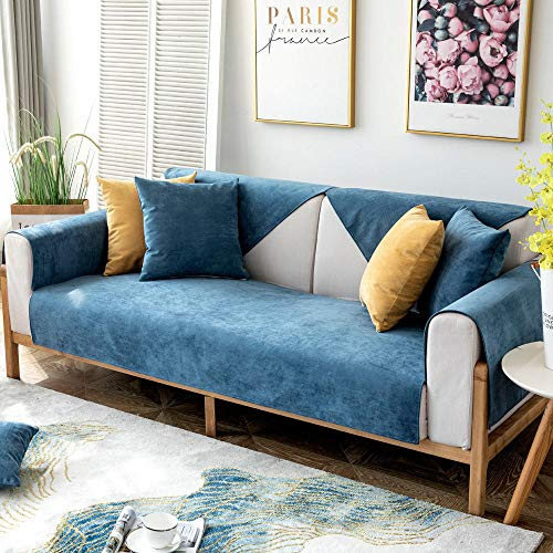 Suuki settee slip covers,sofa cover,couch saver,Pet waterproof sofa covers,anti-bite couch Slipcover,dog cat kids anti-cat scratch thickened Slip Cover,universal Furniture Cover-navy_110*240cm