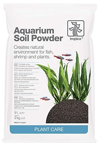 Tropica Aquarium Soil Powder 9L kompletter Bodengrund 1-2 mm Pflanzendünger Pflanzen Feine Körnung