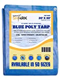 Safety-Shark Tarps Heavy Duty Waterproof - 20x30 Feet - 5 Mil Thick Poly, Classic Heavy Duty Tarp for Outdoor Weather Protection, Camping, or Pool Cover with Metal Grommets