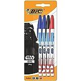 BIC Star Wars 945792 Penna a Sfera, 4 Pezzi, Colori Assortiti
