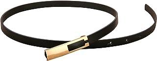 فستان خصر حزام معدني رفيع حزام عصري للنساء البرية حزام أسود أبيض أحمر حزام حزام حزام وسط إكسسوارات فستان للنساء (اللون: أسود)