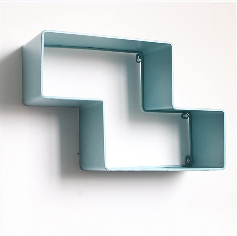 LQQGXLoffice Furniture Wall Decoration Bookshelf, Wrought Iron Shelf, Creative Flower Stand, Wall partition (color   B)