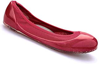 ja vie Women Ballet Flats Comfortable Leather Cushioned Insole Foldable Casual Jelly Shoes for Walking/Driving/Maternity/Daily Wearing