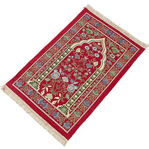 Tapis de prière musulmane - Portable - Pliable - Style turc - Coton et polyester - Pour l