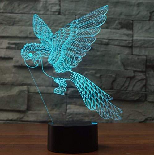 3D Illusion Nachtlicht für Kinder Erwachsene Mädchen Schlafzimmer Wunder Wunder Nachttischlampe 7-Farben-Form Touch-Schalter Licht, Heimtextilien mit Acryl flache ABS-Basis USB-Aufladung