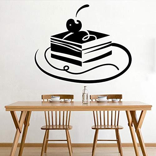 yaonuli Heerlijke taart muur stickers restaurant muurstickers huisdecoratie woonkamer verwijderbare vinyl wanddecoratie