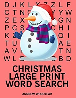 Christmas Large Print Word Search: 25 Christmas Themed Word Search Puzzles (Christmas Word Search) (Volume 1)