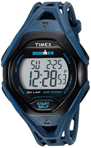 Timex Ironman Sleek 30 - Reloj para hombre con correa de resina, Azul/Negro