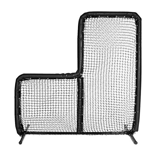 Armor 7X7 Best Baseball L Screen for Batting Cage and On Field Use. Voted Best 7x7 Protective Baseball L-Screen (Black)