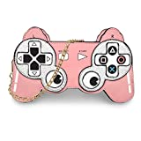 Gamepad Shaped Crossbody Bag, Ustyle Fashionable Novel Unique Girl Women Shoulder Bag with Chain Strap (pink)
