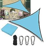 Gohytal Toldo Vela Triangular para Patio, 3x3x3m Toldos Impermeables Exterior Toldo Vela Triangular de Poliéster con Kit de Montaje, Protección UV Ideal para Terraza/Jardín/Cafetería/Camping/Piscina