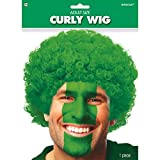 Amscan Curly Party Wig Costume, Green