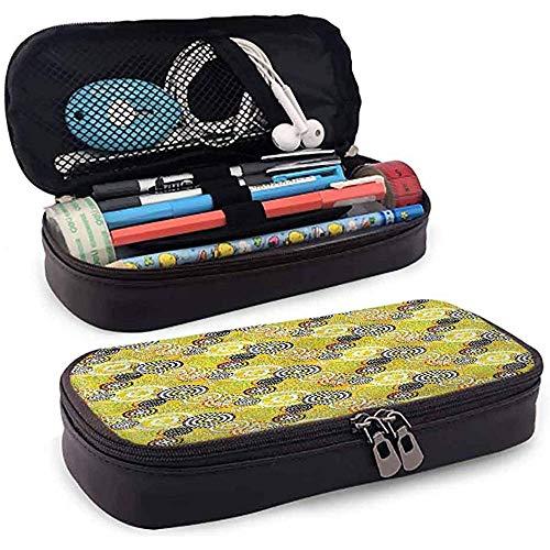 Bleistiftbeutel, federmäppchen tasche, federmäppchen, große kapazität gummiband geometrische psychedelische ringe 20cm * 9cm * 4cm