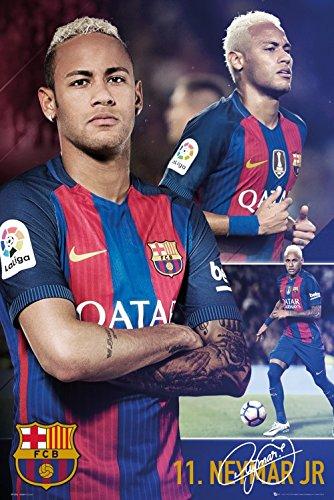 1art1 Fußball - FC Barcelona, Neymar Collage Poster 91 x 61 cm