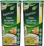 Knorr Supérieur Crème de Légumes D'automne, Crémeuse et Onctuense, Saveur Authentique et Naturel, 1,095kg 50 Portions - Lot de 2