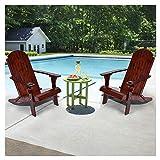 UKBK Klappbare Liegestühle für den Außenbereich, Massivholz Loungesessel mit Tassenkrille, Pool-Liege, Liegestühle,...