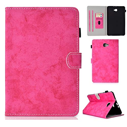 liyuzhu For Samsung Galaxy Tab A 10.1 2016 SM-T580/T585 Cloth Texture PU Leather Tablet Stand Smart Case Cover With Auto Sleep/Wake (Color : Rose)