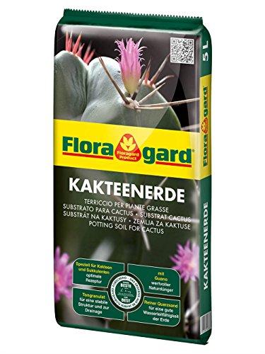 Floragard Kakteenerde 5 L • für alle Kakteen und sukkulenten Pflanzen • schonend aufgedüngt • mit reinem Quarzsand