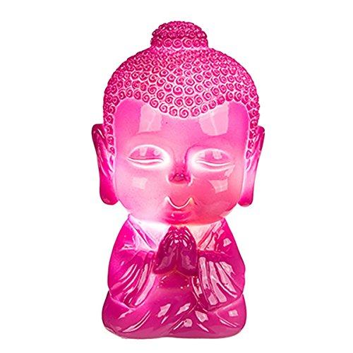 Kleine LED Leuchte Baby-Buddha, 8 LED, mit USB Kabel. Anschluss z. B. an PC. Ideal als Schreibtischleuchte, vor allem im Kinderzimmer. Maße:13,5 x 8 x 8 cm. Polyresin, Farbe:pink