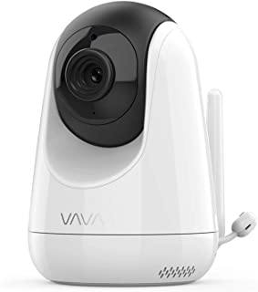 VAVA Baby Monitor Additional Camera [Requires VAVA Baby Monitor] 720p HD Resolution, Scan View - Stable 2.4 GHz Wireless Connection - White