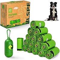 BLSPE Dog Poop Bags Pet Dog Supplies 240 Bag 16 Rolls With Dispenser and Waste Dog Poop Bag Leash Clip for Doggie Cats...