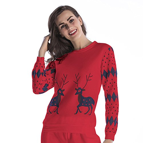 FRAUIT pullover dames sweatshirt ronde hals bedrukken bovenstukken Heart Love lange mouwen warme trui Kerstmis sport vrije tijd sweatshirt kleding blouse tops