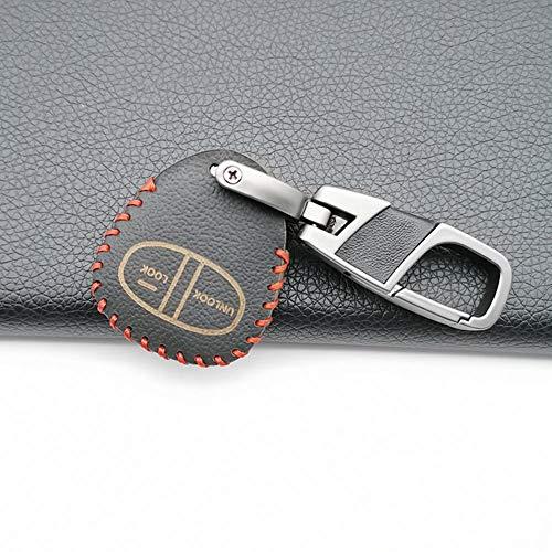 AioeEI Funda Protectora de Cuero para Llave de Coche, Accesorios de decoración de Coche, 2 Botones, para Mitsubishi Colt Lancer Outlander Grandis