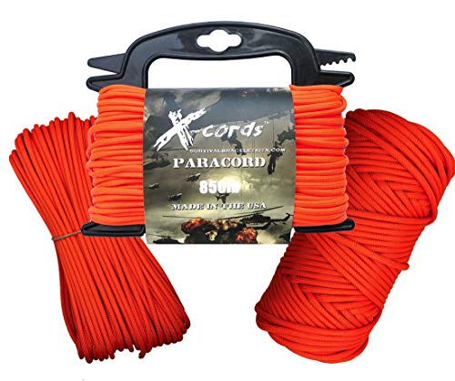 X-CORDS Paracord 385,6 Kilogram Plus Stable Que 550 et 750 fabriqué par Gouvernement Américain Certifié Contractor