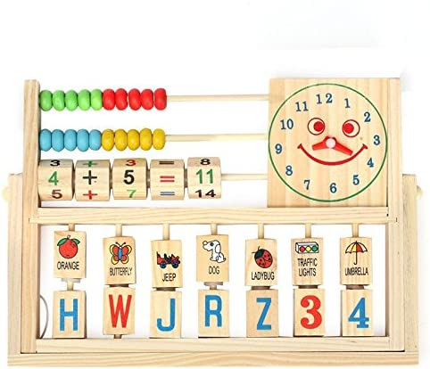 Children Baby Kids Learning Developmental Versatile Flap Abacus Wooden Toys product image