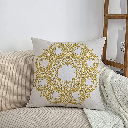 Fundas de cojines sencillas y clásicas de 45 x 45 cm,Decoración victoriana, tradicional círculo redondo floral ,ideales para casa, oficina o para la espalda en el coche - Fundas de Poliéster para sofá