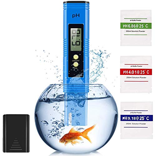Digital PH Meter, PH Tester 0.00-14.00 High-Density Water Quality Accurate...