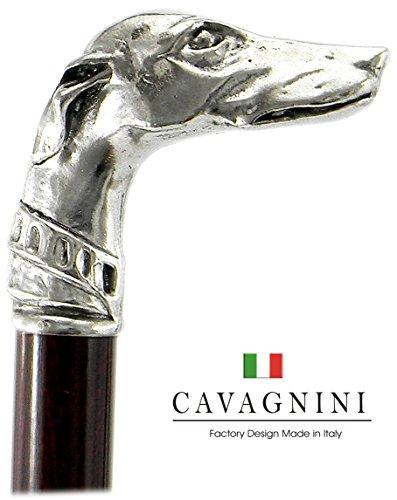 Spazierstock, massiv Massivholz Zinn Gehstock Silber Farbe Holz elegant alten Vintage italy für die Freiheit für einen Mann eine Frau Cavagnini