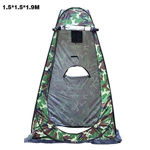 Exuberanter Toilettenzelt Pop Up Duschzelt Umkleidezelt Lagerzelt Camping Strand Toilettenzelt Wurfzelt Sichtschutzzelt, 3 Fenster, 1,2 X 1,2 X 1,9 M / 1,5 X 1,5 X 1,9 M