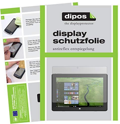 dipos I 2X Schutzfolie matt kompatibel mit TrekStor SurfTab Twin 10.1 Folie Bildschirmschutzfolie