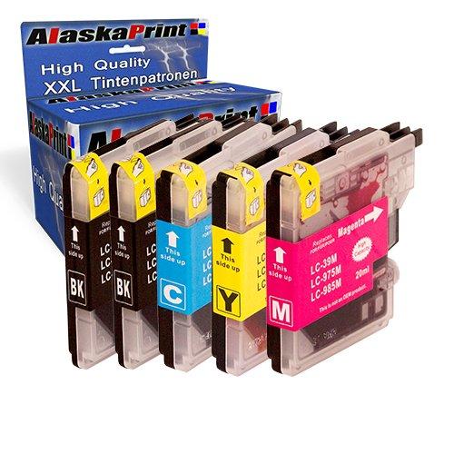 5 Druckerpatronen Kompatibel für Brother LC985BK LC985C LC985M LC985Y XL für Brother MFC-J265W DCP-J140W DCP-J315W DCP-J515W DCP-J125 MFC-J220 MFC-J410 DCP-J415W Patronen