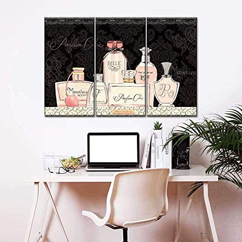 45Tdfc Canvas Painting Poster Pink The perfumes III Dama Carteles E Impresiones Imagen De Arte De Pared para Sala De Estar Decoración para El Hogar con Marco 40cmx60cm