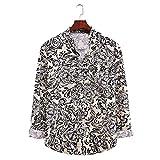 KANGYONG Camiseta de manga larga para hombre, algodón, lino, cuello alto, camisa larga, cuello en V A_gris XL