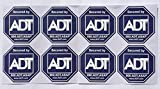 8 - ADT Sticker Decals - Double-Sided Authentic Dark Blue …